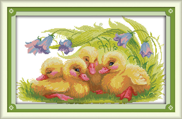 The Baby Ducks Needlework Patterns Cross Stitch Kits Embroidery