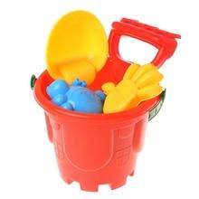7Pcs Sand Beach Toys Bucket Spade Shovel Rake Dune Water Tools Set For Children