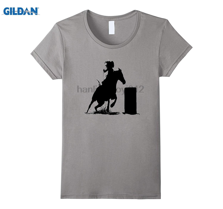 GILDAN Barrel Horses Rodeo Turn N Burn T-Shirt glasses Womens T-shirt