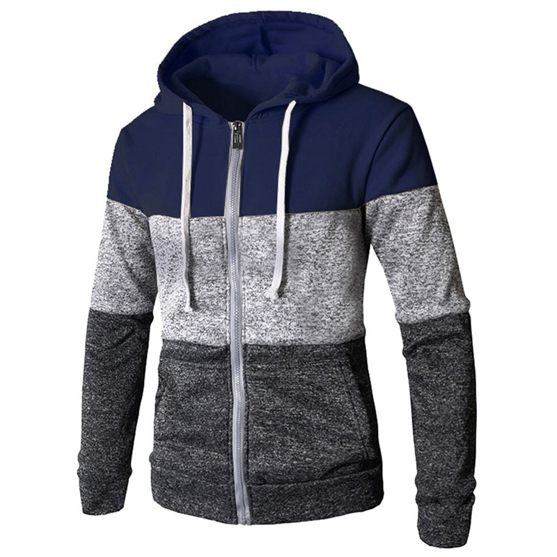 Stitching  Sweater Men Hooded 2018 Autumn Winter Solid Thicken Outwear Sweater coat Casual Cardigans