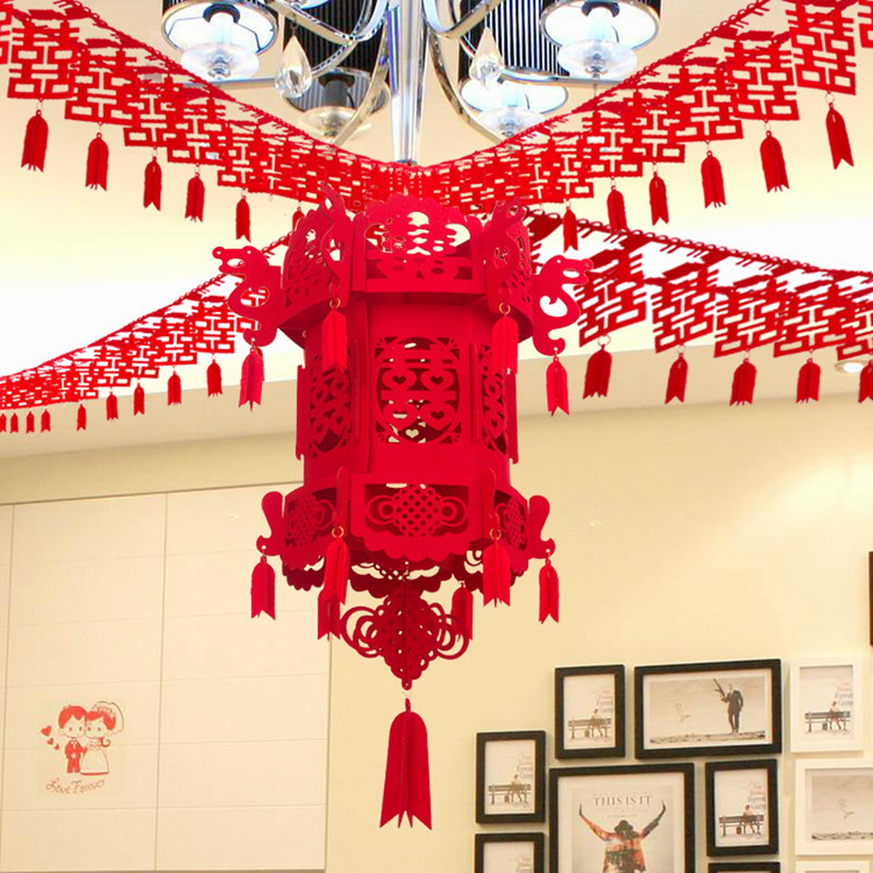 3m long chinese character wedding accessories red double happiness 3m long chinese character wedding accessories red double happiness part decorations valentines day room hanging banner in lanterns from home garden on junglespirit Choice Image