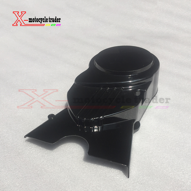 Brandnew pit bike <font><b>Engine</b></font> Magnetor Left Side Cover <font><b>70CC</b></font> 110CC 125CC 140CC <font><b>lifan</b></font> Apollo Dirt Bikes Pit Bike Parts Black image