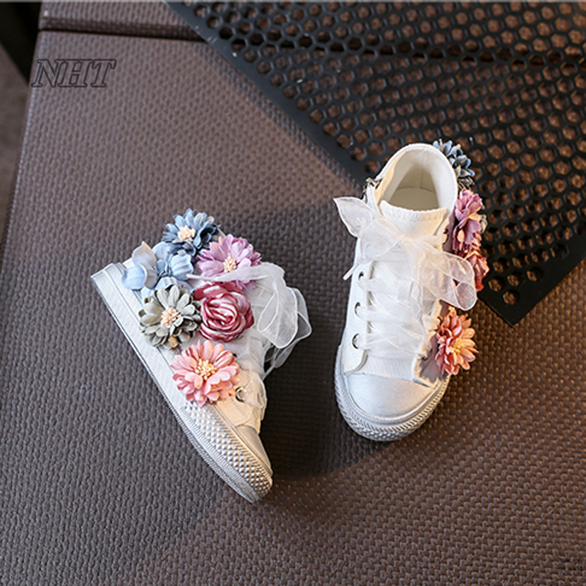 worthy to get online girl shoes - beading flower net shoes lace fit kids princess boots for dress & party booties