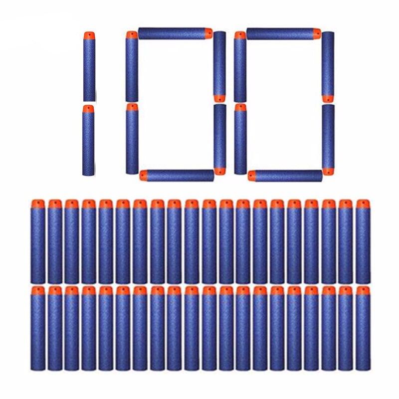 Abbyfrank 100 Pcs/set Soft Bullet For Nerf Toy Gun Dart Toy Soft Bullet Shoot For For N-strike Elite Series Blasters