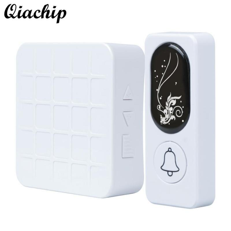QIACHIP 433MHZ AC 110V 220V RF Relay White Receiver and Motion Sensor Transmitter Doorbell For Smart Home Light LED Light Switch