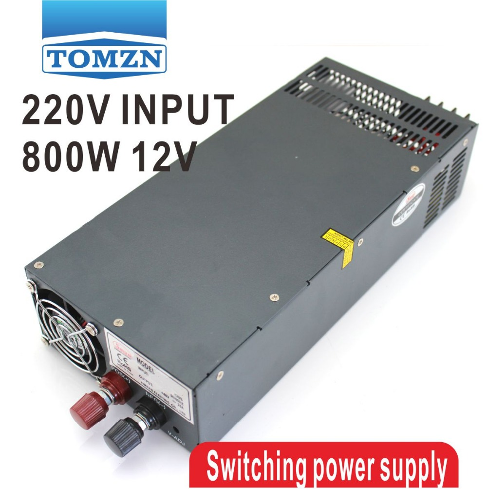 800W 0V TO 12V adjustable 66A 220V Single Output Switching power supply PSU AC to DC 1200w 12v 100a adjustable 220v input single output switching power supply for led strip light ac to dc