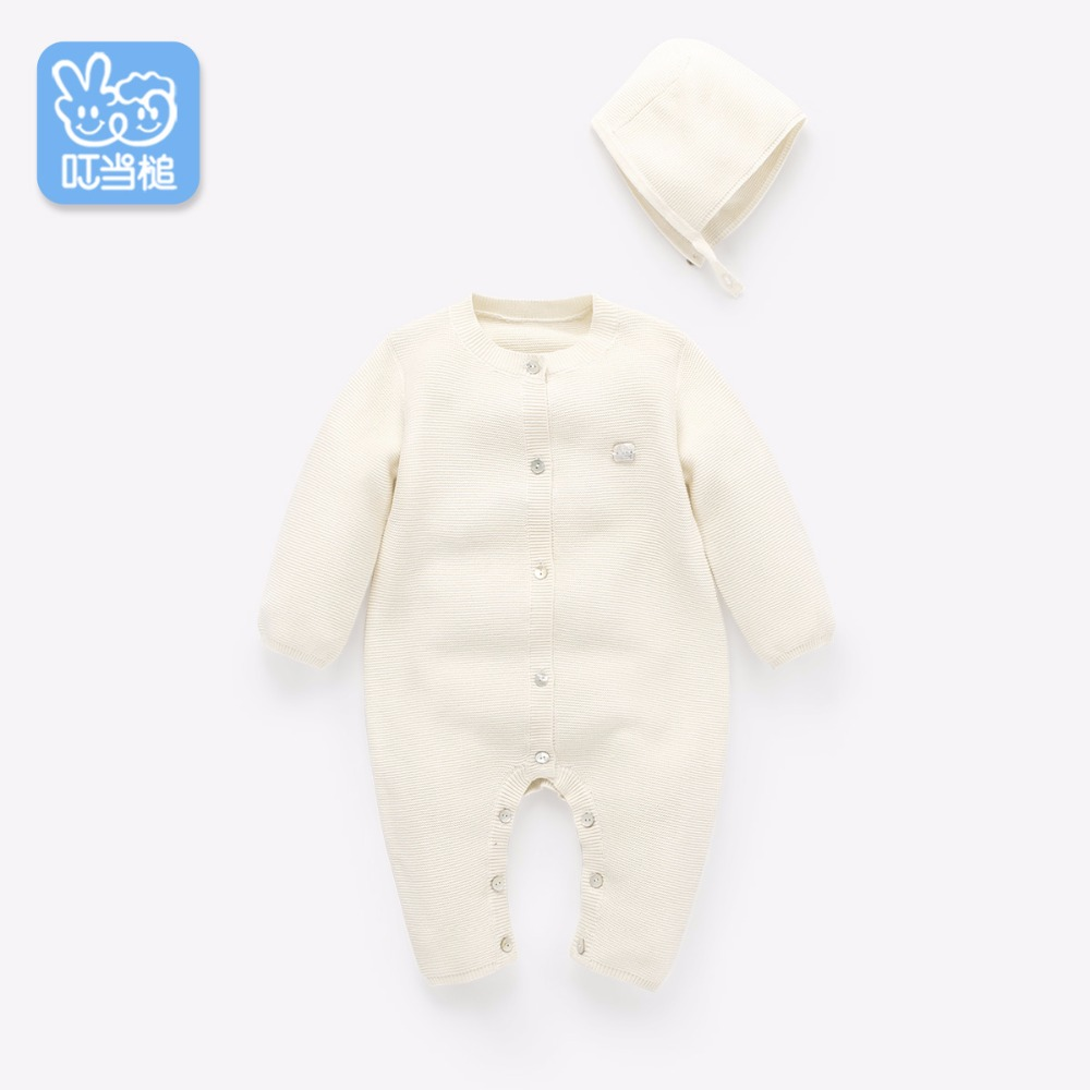 Dinstry Baby spring and autumn baby long-sleeved cotton fall newborn romper цена