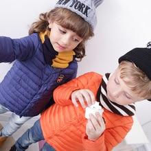 Бесплатная Доставка ребенка вниз жилет куртка парки Новый бренд зимой вниз пальто Куртки Теплый Верхняя Одежда Моды Пальто для Детей Одежда