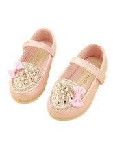 BABY WOW Leder Baby Mädchen Schuhe Rosa Crtsta Bogen für Kleine Mädchen Kleider 90221