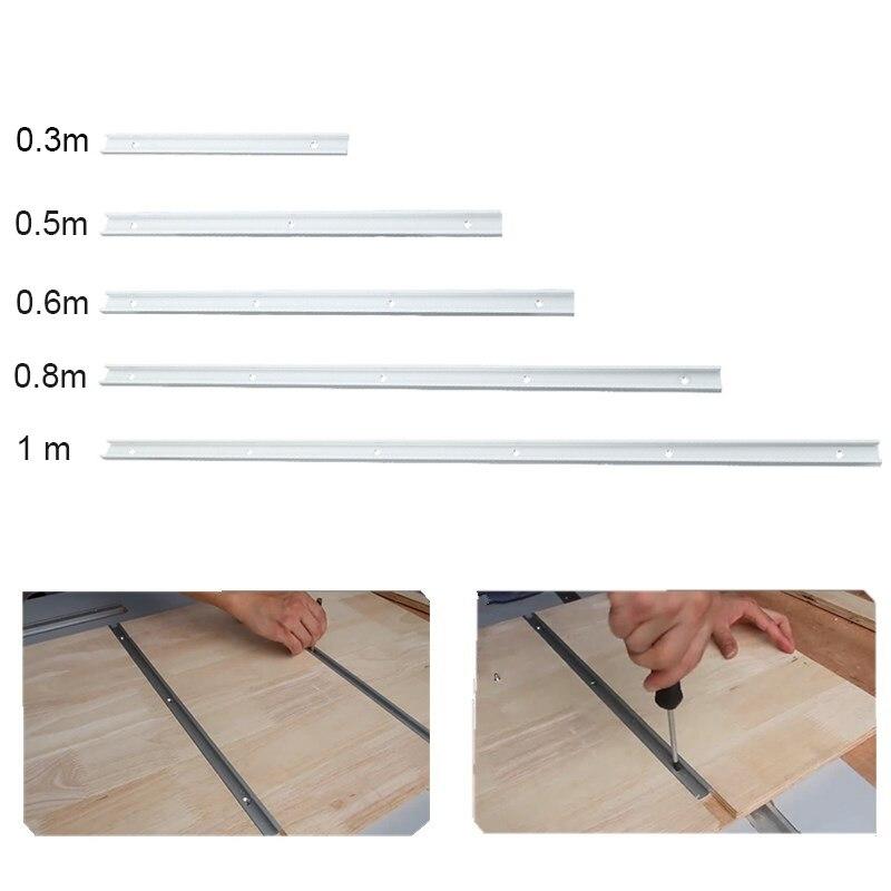 NE 0.3/0.5/0.6/0.8/1 m t-track t-slot Miter track gabarit T vis montage fente pour Table scie routeur Table outil de travail du boisNE 0.3/0.5/0.6/0.8/1 m t-track t-slot Miter track gabarit T vis montage fente pour Table scie routeur Table outil de travail du bois