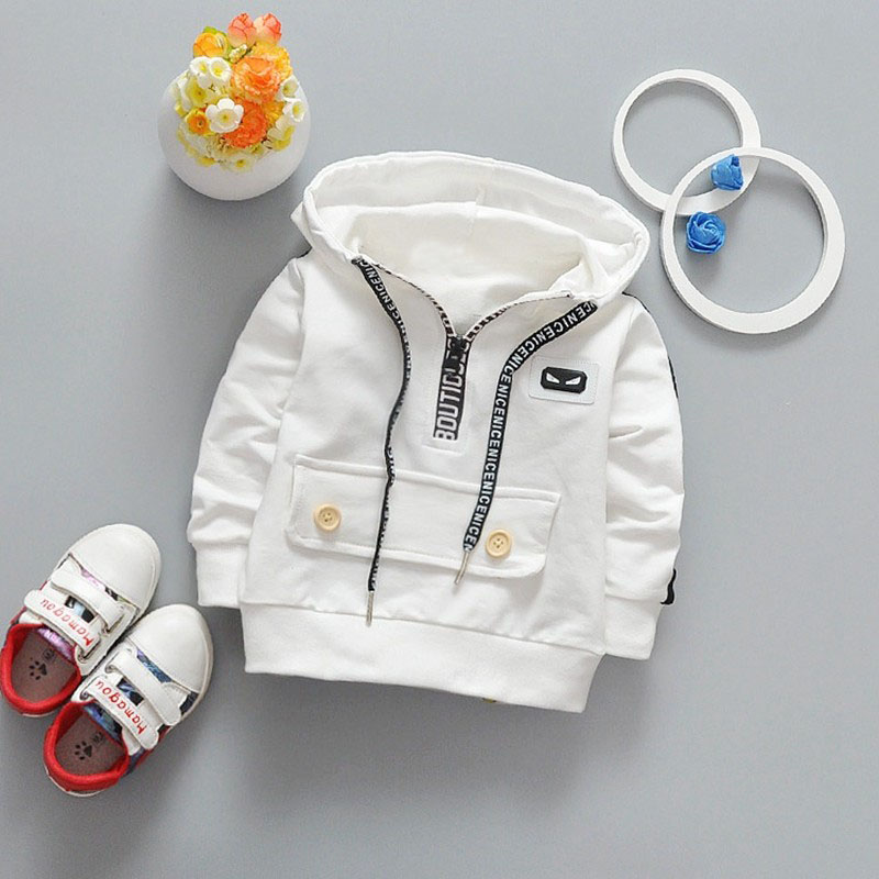 Spring Baby Boys Long Sleeve with Hooded Cotton Jacket Coat Kids Outerwear Sweatshirts Infant Clothes casaco roupas de bebe