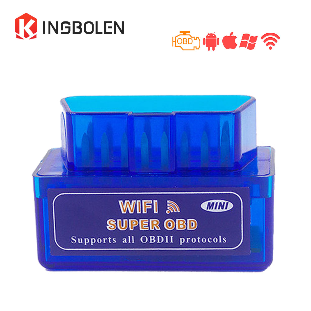 Prix pour Super Mini WiFi ELM327 V1.5 Avec puce PIC18F25K80 OBD II voiture Outil De Diagnostic Pour iOS/Android ELM 327 WiFi lecteur de Code ELM327