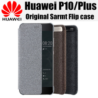 Huawei P10 Case Original Smart Flip Cover Window Display Funda Magnet 100 From Huawei Company For