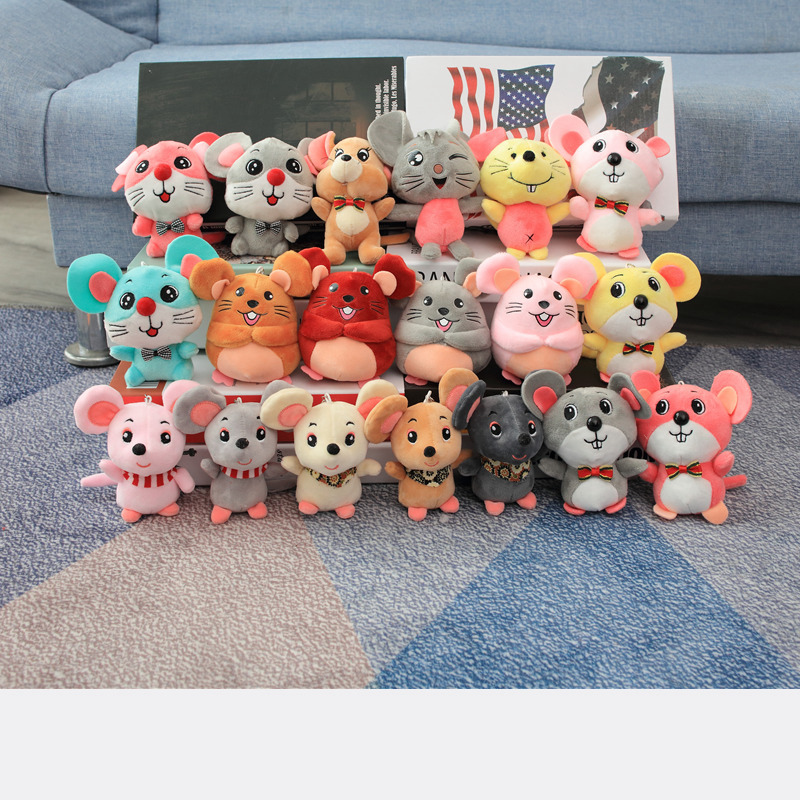 12CM Mouse Plush Toy Keyring Holder Anime Keychain Car Key Keychains Key Pendant For Bag Gifts For Women Kids Girls Keychain