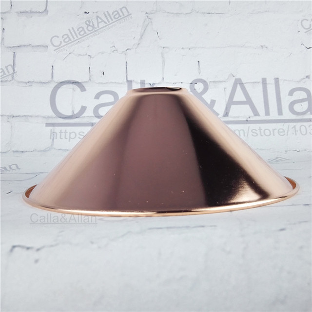 Rose gold finished d220mmh85mm e27 vintage iron shade industrial rose gold finished d220mmh85mm e27 vintage iron shade industrial style edison lamp shade diy mozeypictures Image collections