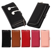Ziper Phone Case For IPhone 6 Plus 6S Fashion Leather Wallet Bag For Iphone 7 Plus