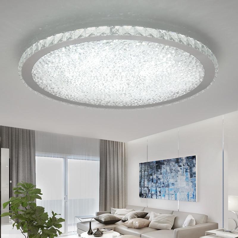 Lustres en cristal modernes lumières éclairage à la maison ledlamp salon chambre plafonnier LED ronde lustre lampadari luminaires - 3