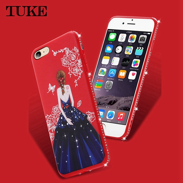 new concept 84b56 0c389 US $1.6 |Aliexpress.com : Buy TUKE Case For Vivo Y53 Celular Beauty Girls  Rhinestone Soft Silicone TPU Cover For VIVO Y53 Y 53 Housing Case from ...