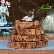1pcs Length 22 -23cm & Height 3cm Noble Ebony Wood Slices Bar Mats Coasters Reclaimed Willow