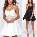 CELMIA 2017 Summer Dress Womens Spaghetti Strap Backless Lace Hollow Out Sexy Party Mini Dresses Plus Size Casual Vestidos