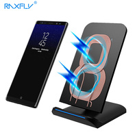 RAXFLY QI Wireless Charger For Samsung S8 Plus Galaxy Note 8 S7 S6 Edge 5V 1