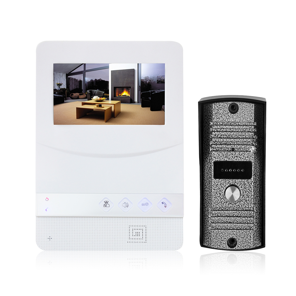 4,3-дюймовый видеодомофон, ЖК-экран, монитор ABS, дверной звонок, видеодомофон, монитор, комплект, ИК камера ночного видения, дверной звонок