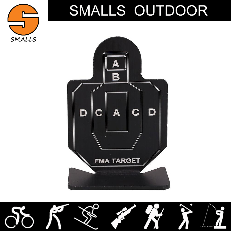 AR15 accessories 6pcs airsoft tactical gun training target aluminum military hunting targets for shooting black HT12-003