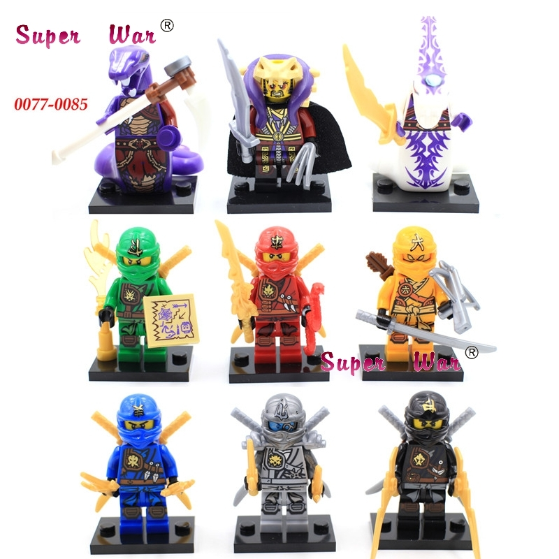 9PCS ninja Pythor Kapau with weapon superhero marvel building blocks sets model bricks t ...