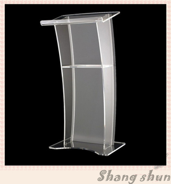 Clear Acrylic Lectern/Lucite Chruch Podium/Transparent Pmma Pulpit Modern Church Pulpit Classroom Lectern Podium