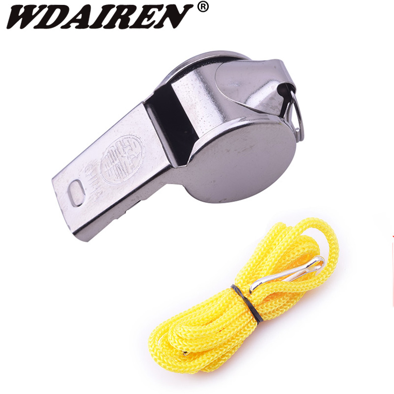 1Pcs Rugby Party Training Like Metal Whistle Referee Sport Whistle School Soccer Football Outdoor Sports Wholesale