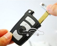New! БРЕЛОК Ключа Автомобиля Пустой Чехол Для BMW 7 Серии Smart Remote Key Shell (с Батареей обнаружения порт) + Смарт-плоский ключ