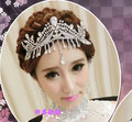 Korean tassel crystal luxury wedding bridal tiaras and crowns princess frontlet hair jewelry wedding