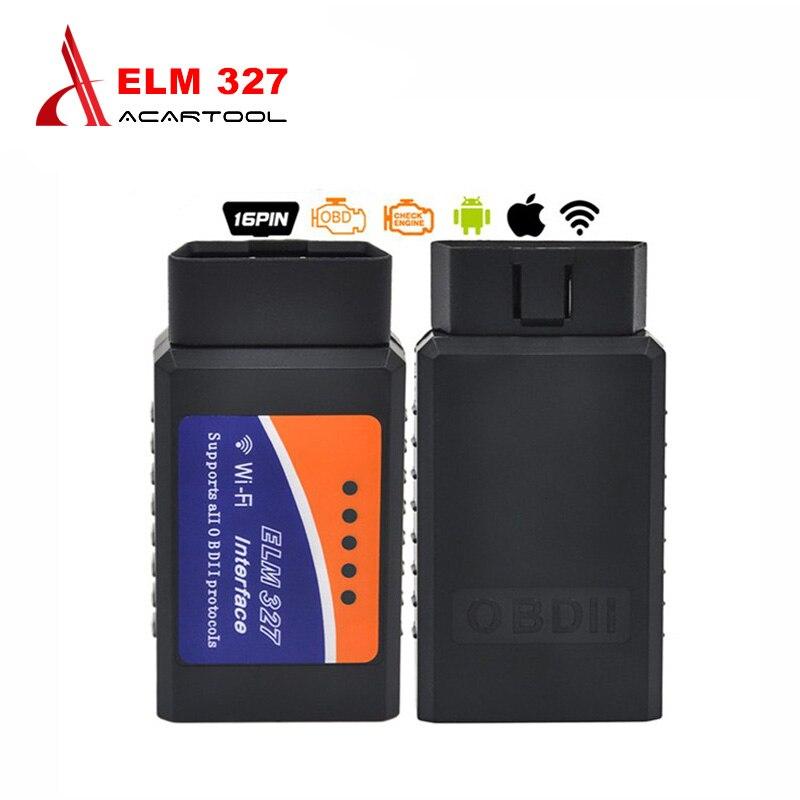 Prix pour 2017 Meilleur Prix ELM327 Wifi Scanner Auto OBD2 Outil De Diagnostic ELM 327 WIFI OBDII Scanner V 1.5 Sans Fil Pour Android/IOS
