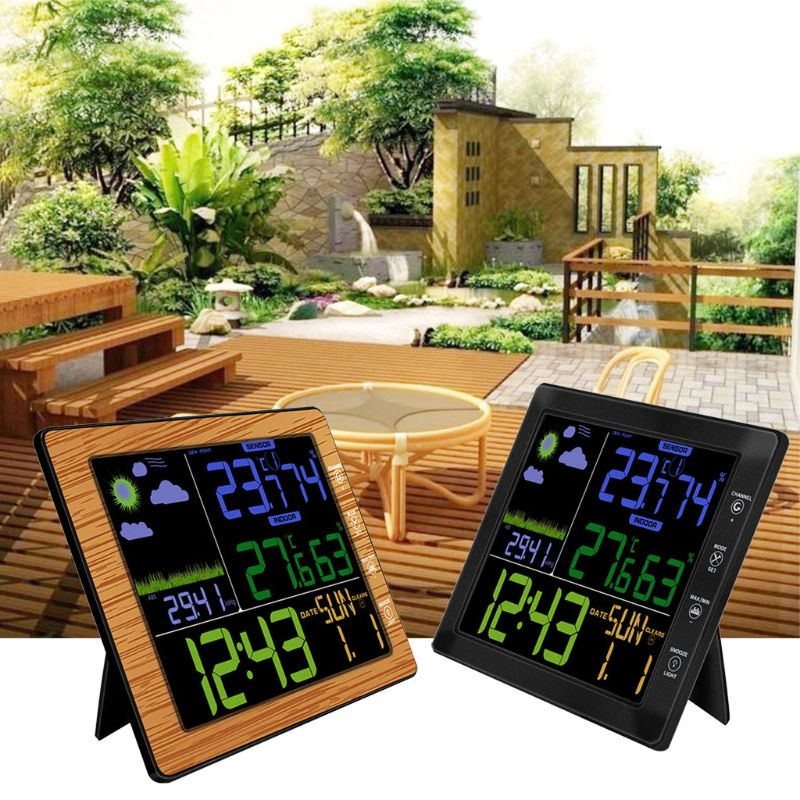 Colorful Screen LCD Wireless Forecast Weather Station Clock Humidity Thermometer