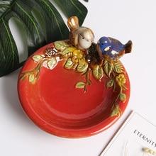 Diameter 13CM Decoration Wedding Plate Ceramic Porcelain Home Bowl Container European luxury life