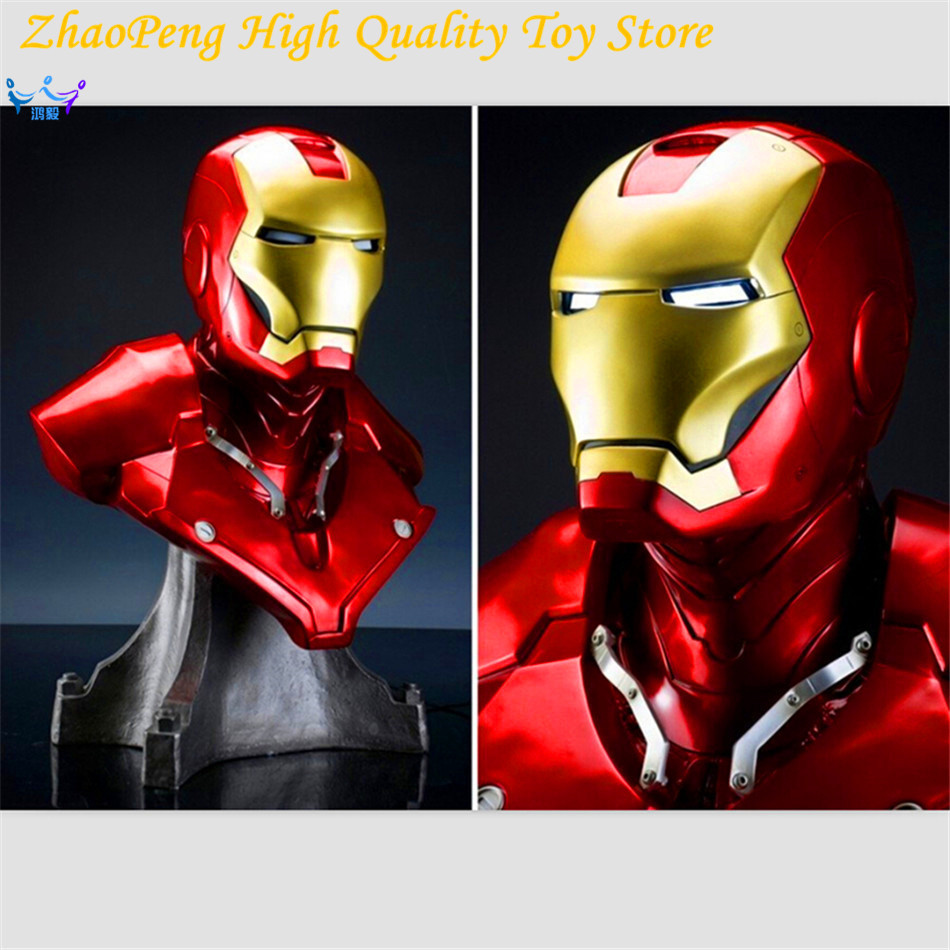 Anime 2017 NEW Hot Toy 61cm Resin Captain America Civil War Avengers Iron Man Bust Action Figure Christmas Shine FB094 victorian america and the civil war