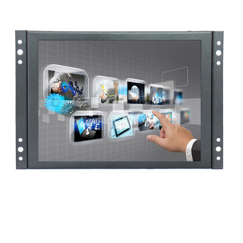 8 inch HDMI Touch Monitor TFT LCD HD Color Screen Monitor 4:3 1024x768 With AV/VGA/HDMI/BNC/USB Input for Home Security CCTV PC zgynk 10 1 inch open frame industrial monitor metal monitor with vga av bnc hdmi monitor