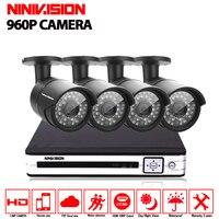 4CH CCTV System Outdoor 4CH HDMI DVR 4x960p IR Waterproof Security System Surveillance Kit CCTV 4ch