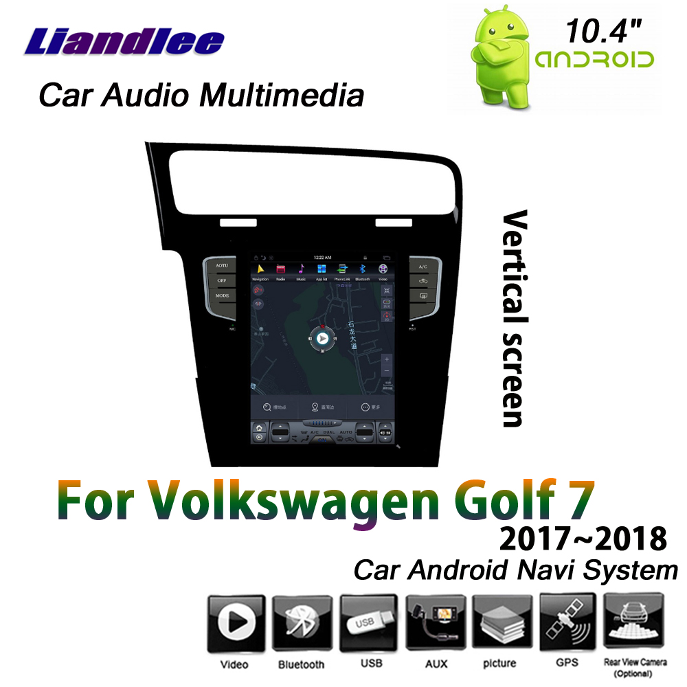 Liandlee système Android de voiture pour Volkswagen Golf 7 MK7 2017 ~ 2018 voiture écran Vertical miroir lien GPS Navi Navigation multimédia - 2