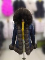 parka women 2018 winter parka with fur hood fur inside parka rex rabbit fur fox jacket real fur coat