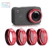 Densité neutre ND4 + ND8 + CPL + MCUV Ultraviolet Polariseur Lens Filter Kit pour Xiaomi Mi Mijia Mini Sport Action Caméra