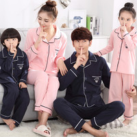 Family Matching Outfits 2019 Mother And Daughter Spring Pijamas Summer Cotton Boys Sleepwear Father Son Baby Boy Girl Pajamas