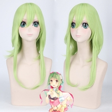2019 Women VOCALOID GUMI Cosplay Wig Green Heat Resistant Synthetic Hair Medium Length Straight Costume Wigs Free Shipping kisstyle fashion vocaloid gumi happy synthesizer uniform cos clothing cosplay costume customized accepted