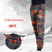 New Plus Velvet& Keep Warm Fishing Clothing Outdoor Sports Pants Men Fishing Pants Camouflage Climbing Hiking Fishing Pants
