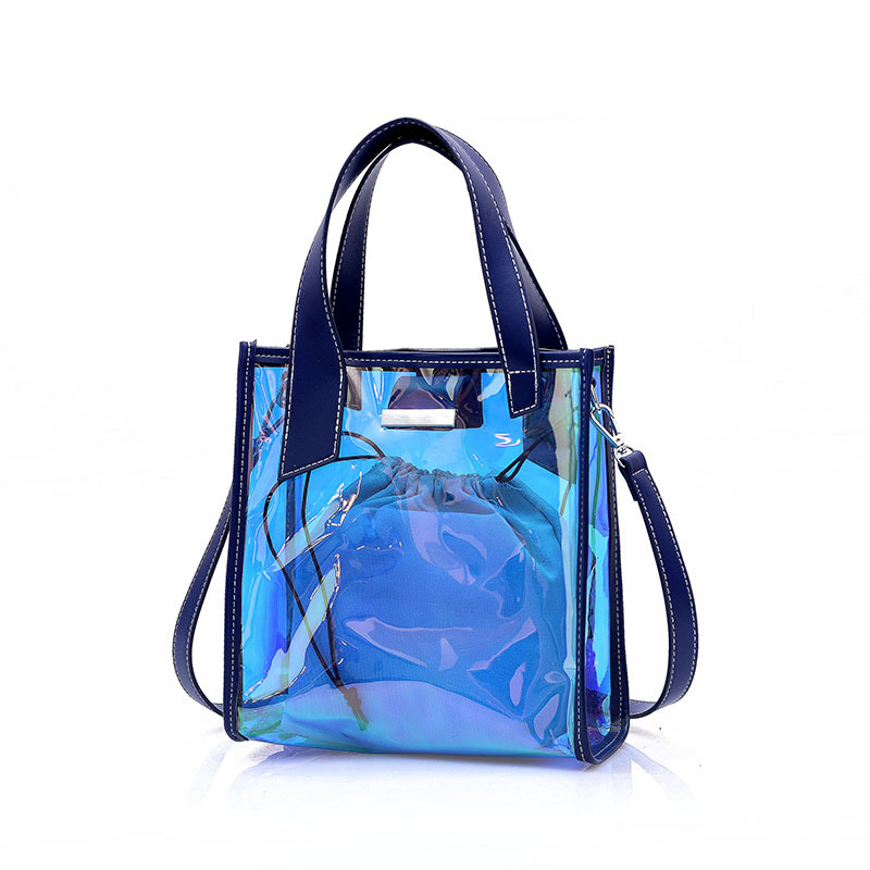 a76eb20a736f 2018 New Trend Large Capacity Fashion Atmospheric Bucket Composite Bag  Color Transparent Personality Wild Simple Handbag