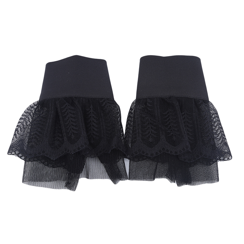 Korean Double Bud Silk Yarn Folding Wrist Fake Sleeves Fashion Wild Autumn Winter Women's Knitted Sweater Fake Cuff Decoration
