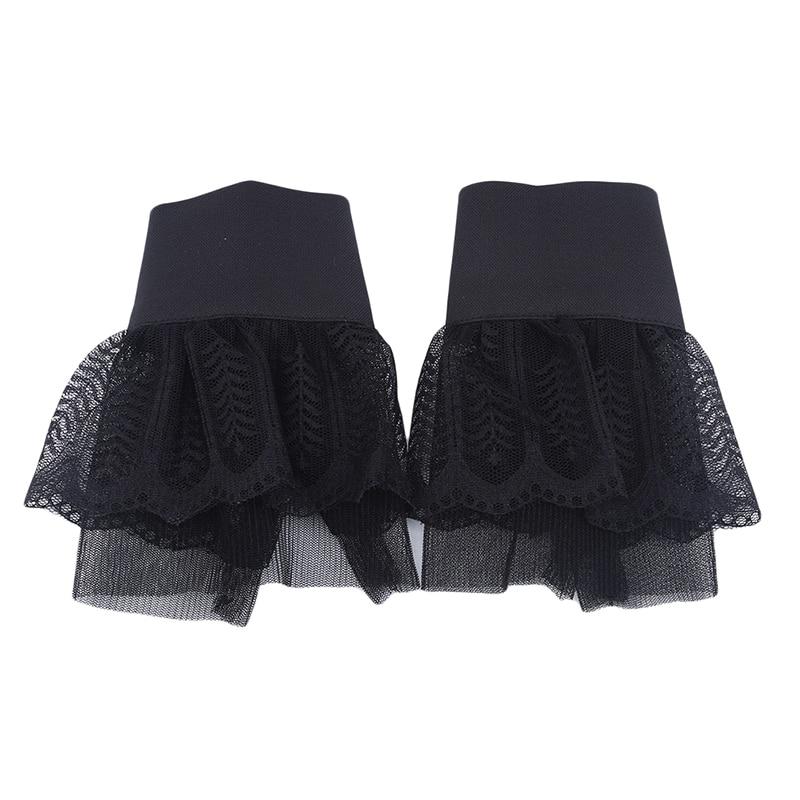 Korean Double Bud Silk Yarn Folding Wrist Fake Sleeves Fashion Wild Autumn Winter Women's Knitted Sweater Fake Cuff Decoration