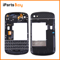 iPartsBuy for BlackBerry Q10 (Keyboard + Middle Frame Bezel + Back Plate Housing Camera Lens Panel) Full Assembly Housing Cover