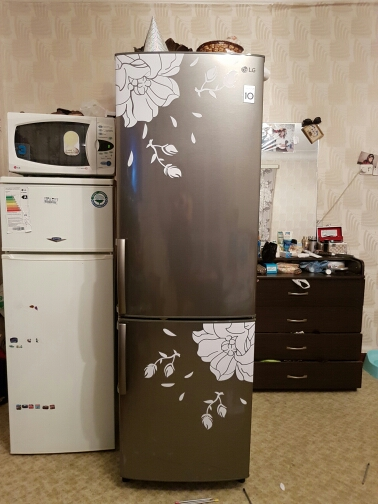 Us 1 9 60 Off Fridge Door Cover Magnolia Wall Sticker Self Adhesive Flower Refrigerator Stickers Wallpaper Home Decor Adesivos De Paredes In Wall
