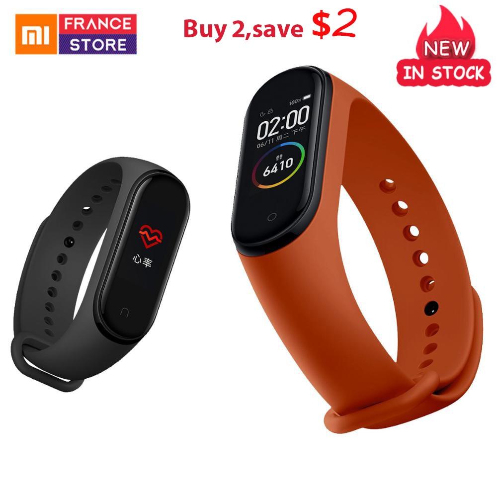 Globale Version Xiao mi mi Band 4 Smart Band Fitness Armband Herz Rate Tracker Bunte Display Instant Nachricht 135mAh uhr